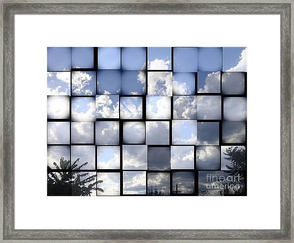 Sunny Sky Framed Print