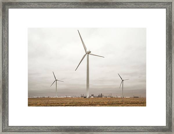 Framed Print featuring the photograph Sunray Turbines by Scott Cordell