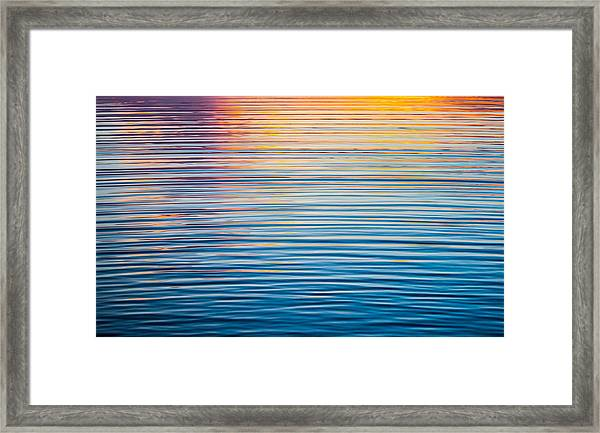 Sunrise Abstract On Calm Waters Framed Print