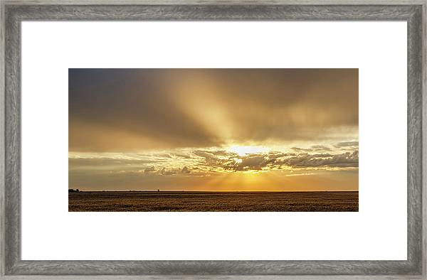 Framed Print featuring the photograph Sunrise And Wheat 04 by Rob Graham
