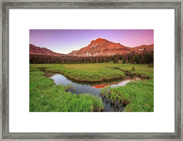 Sunrise At Amethyst Meadows. Framed Print