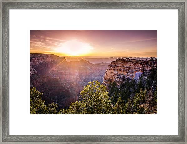 Sunrise At Angel's Window Grand Canyon Framed Print