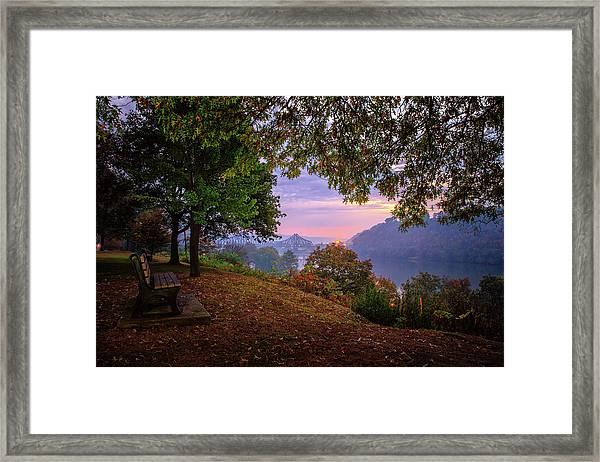 Sunrise At River Rd  Framed Print