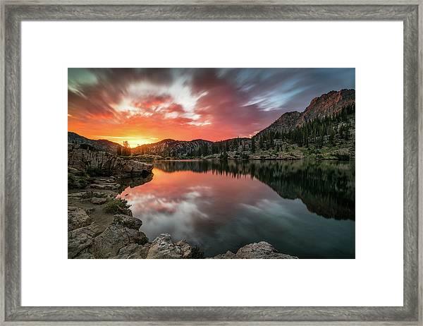 Sunrise At Cecret Lake Framed Print