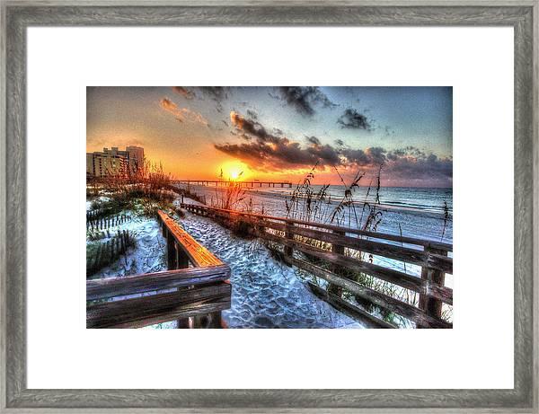 Sunrise At Cotton Bayou  Framed Print