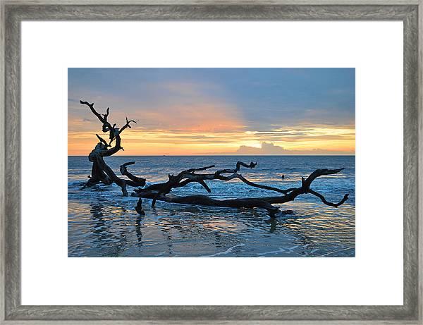 Sunrise At Driftwood Beach 1.4 Framed Print