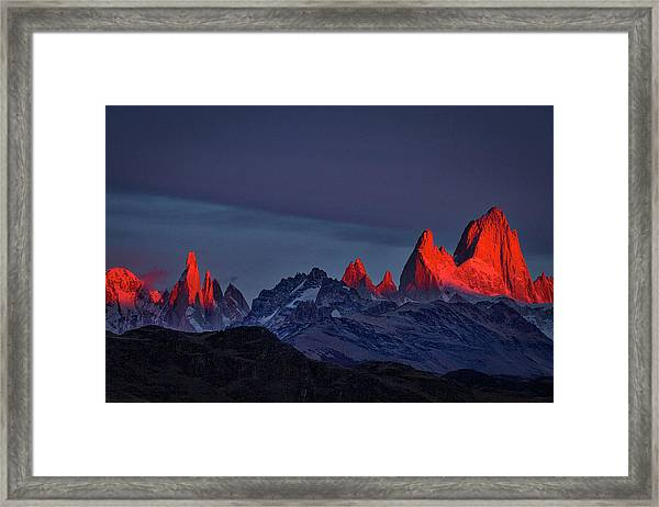 Sunrise At Fitz Roy #2 - Patagonia Framed Print
