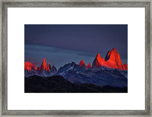 Sunrise At Fitz Roy #2 - Patagonia Framed Print
