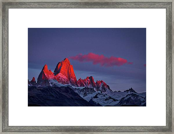 Sunrise At Fitz Roy #3 - Patagonia Framed Print