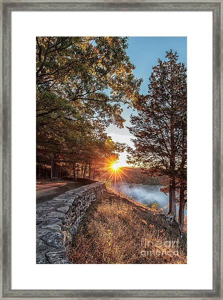 Sunrise At Great Bend Framed Print