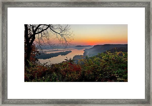 Sunrise At Homer, Mn Framed Print