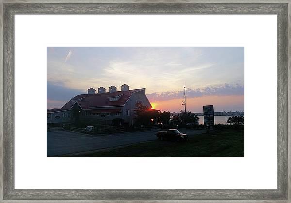 Sunrise At Hooper's Crab House Framed Print