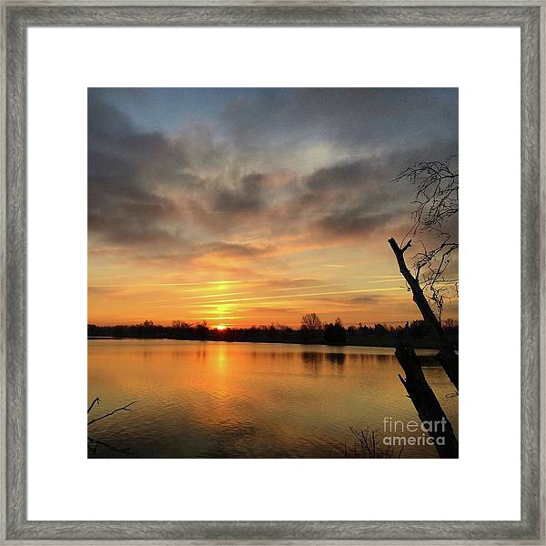 Sunrise At Jacobson Lake Framed Print