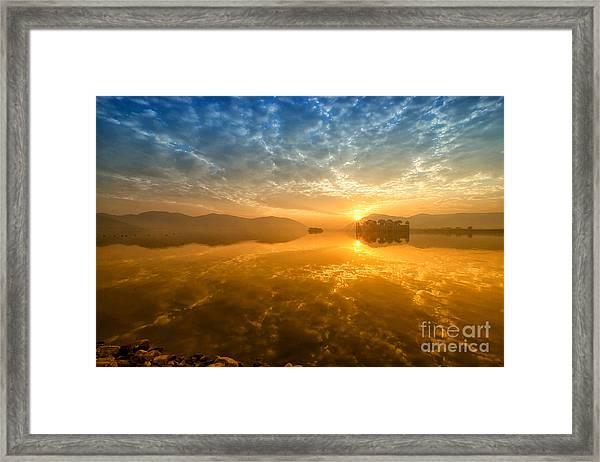 Sunrise At Jal Mahal Framed Print