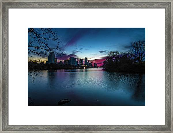 Sunrise At Lou Neff Point Framed Print