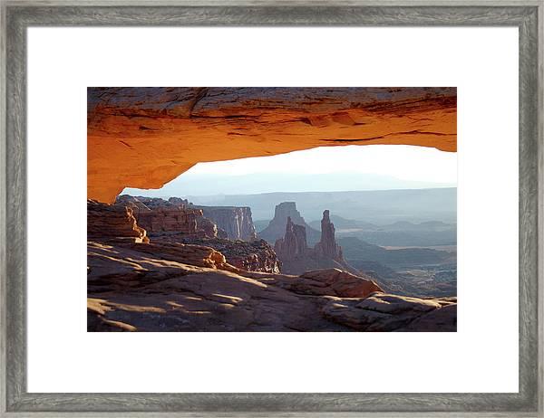 Sunrise At Mesa Arch Framed Print