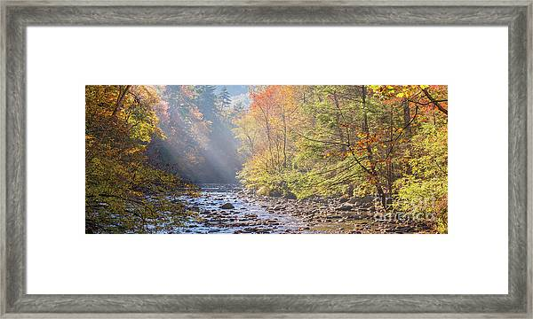 Sunrise At Metcalf Bottoms Framed Print