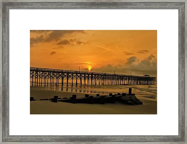 Sunrise At Pawleys Island Framed Print
