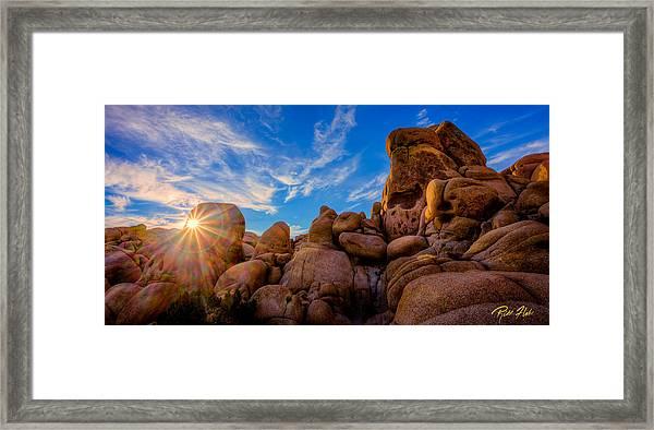 Sunrise At Skull Rock Framed Print