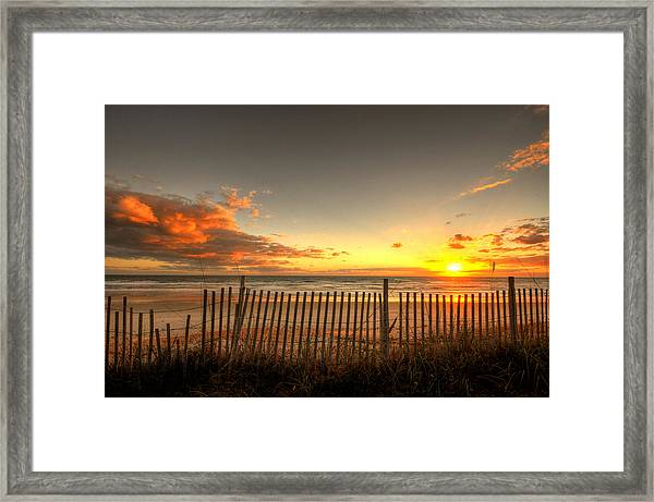 Sunrise At Snack Jacks Framed Print