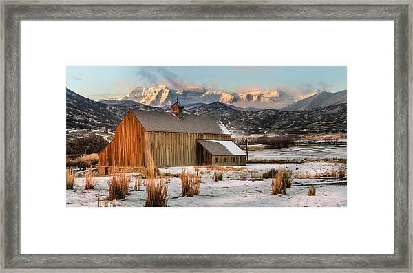 Sunrise At Tate Barn Framed Print
