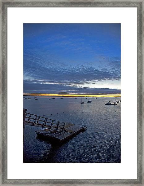 Sunrise At The Barnstable Yacht Club Framed Print