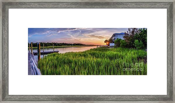 Sunrise At The Boat Ramp Framed Print