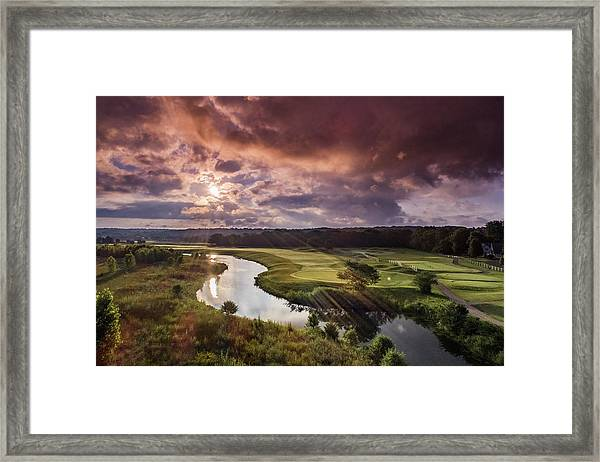 Sunrise At The Course Framed Print
