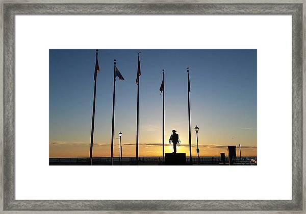 Sunrise At The Firefighters Memorial Framed Print