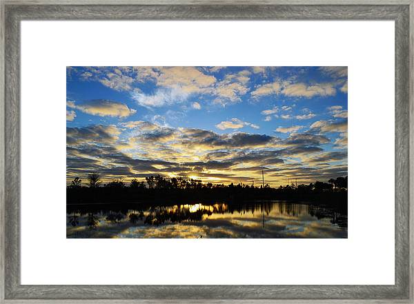 Sunrise At The Summit Framed Print