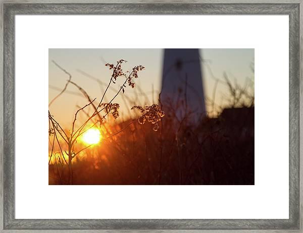 Sunrise Backlight Framed Print