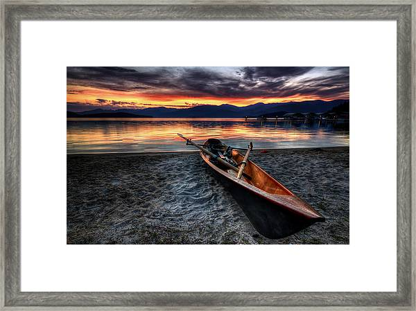 Sunrise Boat Framed Print