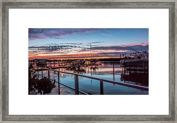 Sunrise Christmas Morning Framed Print