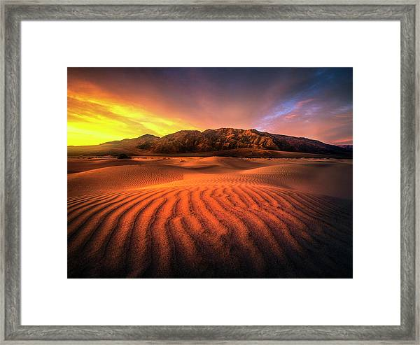 Sunrise-death Valley Framed Print