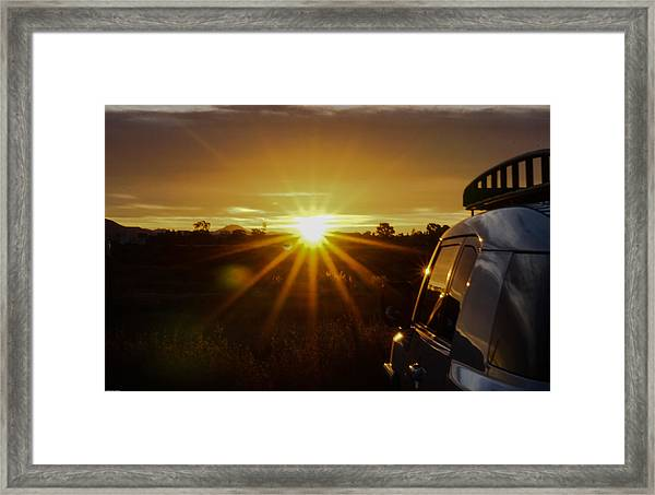 Sunrise And My Ride Framed Print
