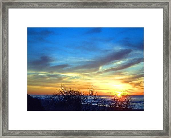 Sunrise Dune I I Framed Print