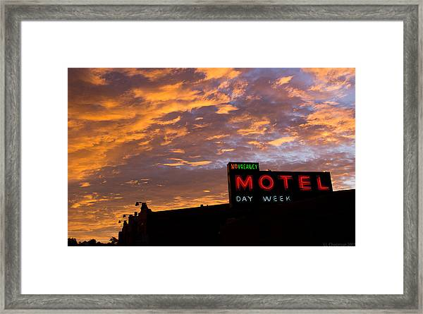 Sunrise Enters Capitola Framed Print