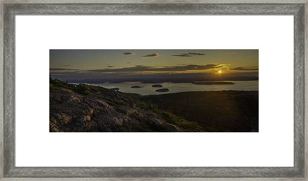 Sunrise From Cadillac Mountain Framed Print