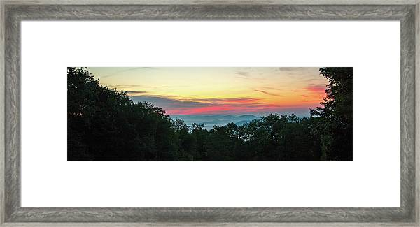 Framed Print featuring the photograph Sunrise From Maggie Valley August 16 2015 by D K Wall