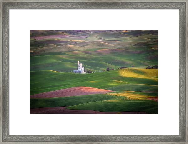 Sunrise From Steptoe Butte. Framed Print