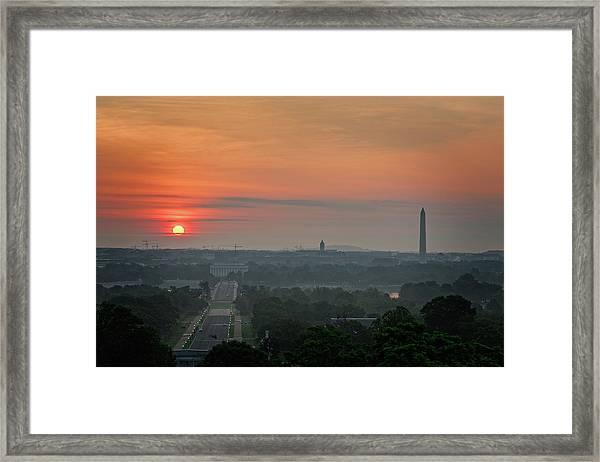 Sunrise From The Arlington House Framed Print