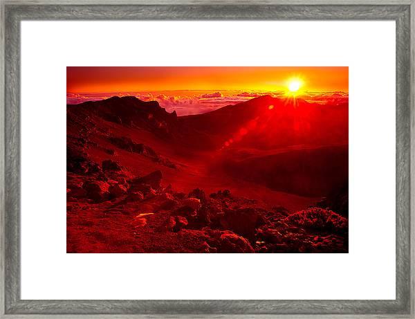 Sunrise Haleakala Framed Print