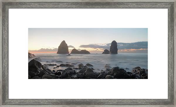 Sunrise In Aci Trezza, Sicily Framed Print
