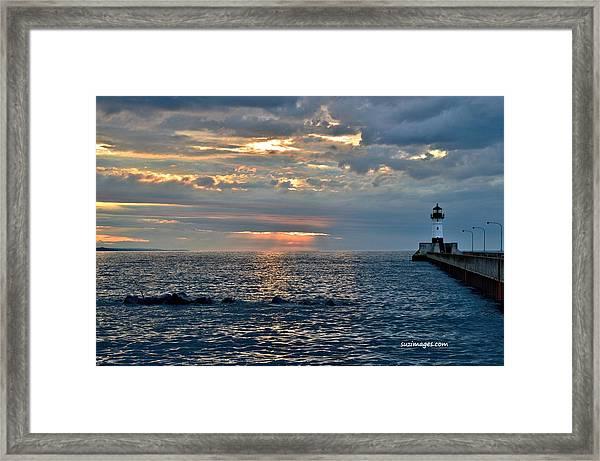 Sunrise In Duluth Framed Print