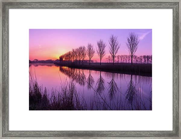 Sunrise In Holland Framed Print