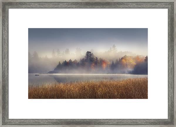 Sunrise In Lake Placid  Framed Print