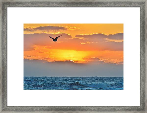 Sunrise In Nags Head Framed Print