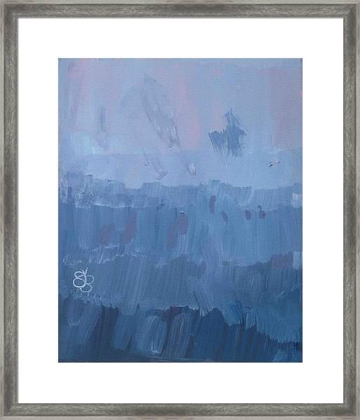 Sunrise In Purples Framed Print