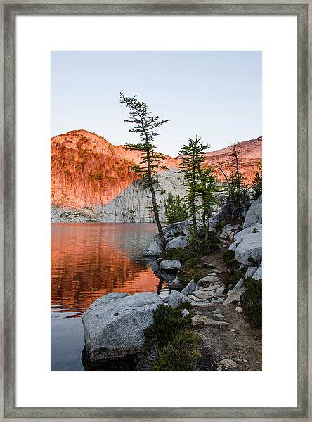 Sunrise In The Enchantments Framed Print