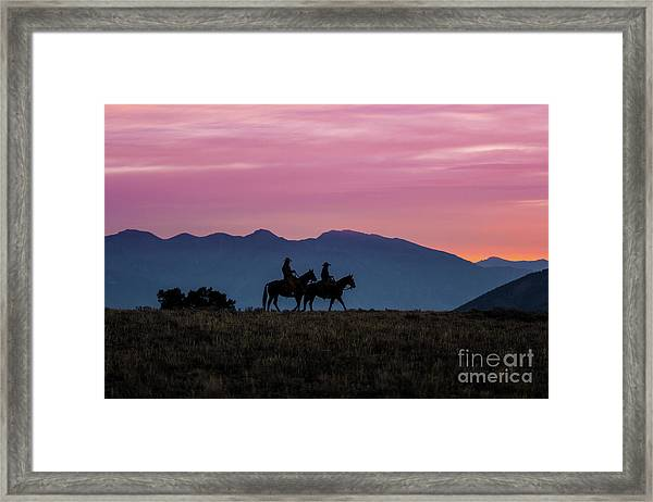 Sunrise In The Lost River Range Wild West Photography Art By Kay Framed Print